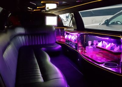 Limousine Lincoln Town Car interno